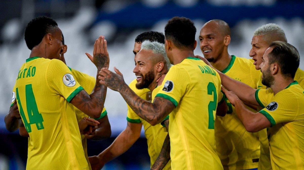 Tuyển Brazil đánh bại Peru, giành tấm vé đầu tiên vào chung kết Copa 2021