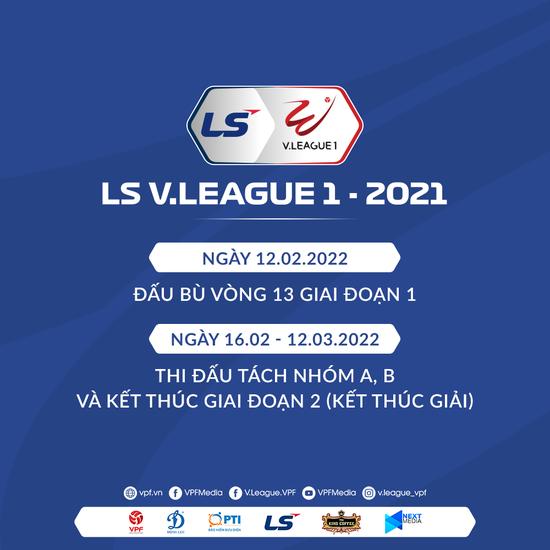 V-League 2021 sẽ trở lại từ tháng 2/2022