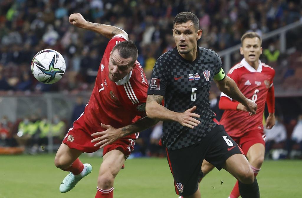 Trận đấu giữa tuyển Nga và Croatia