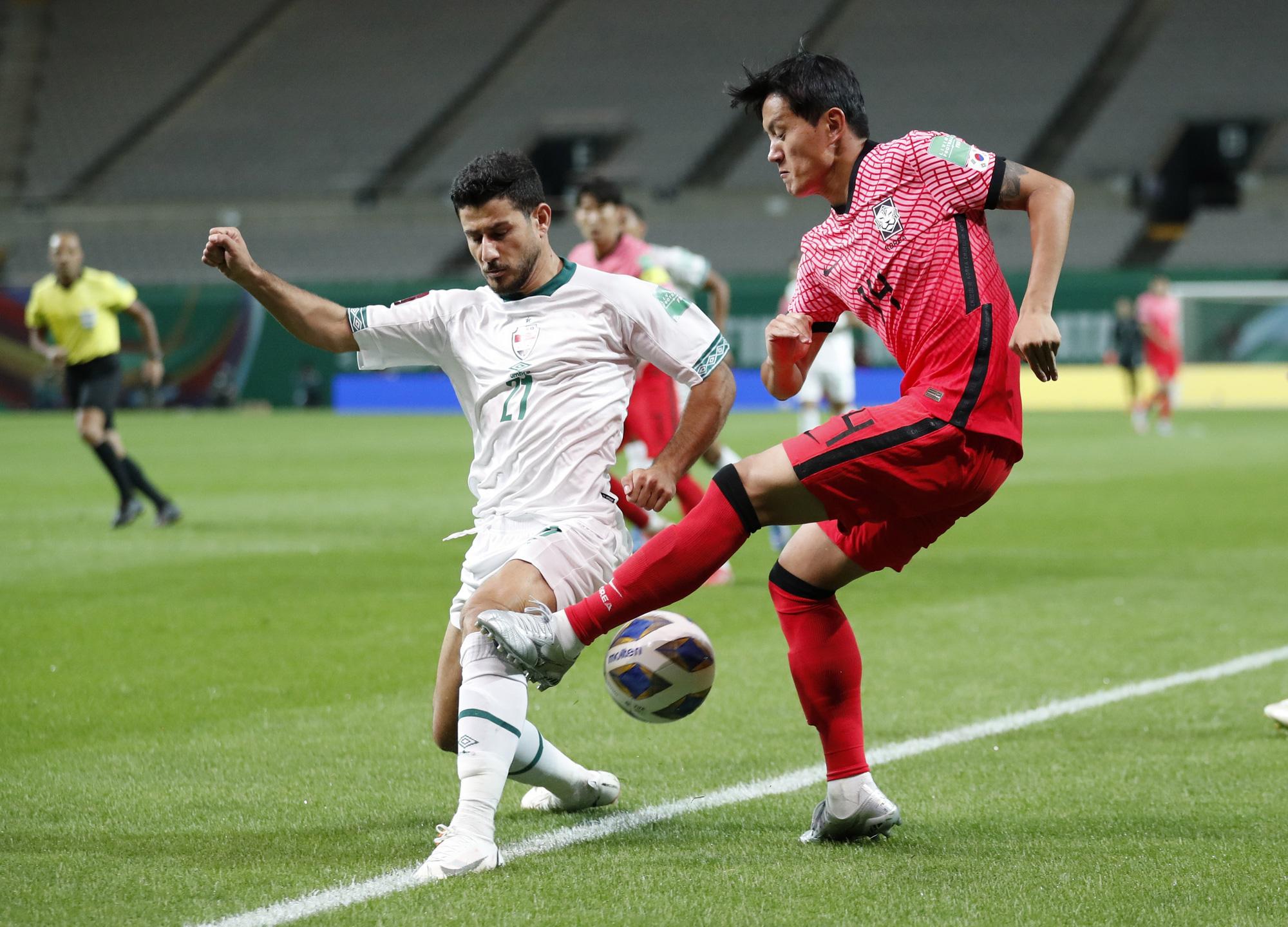 Hàn Quốc bị cầm hòa trước những chân sút của tuyển Iraq