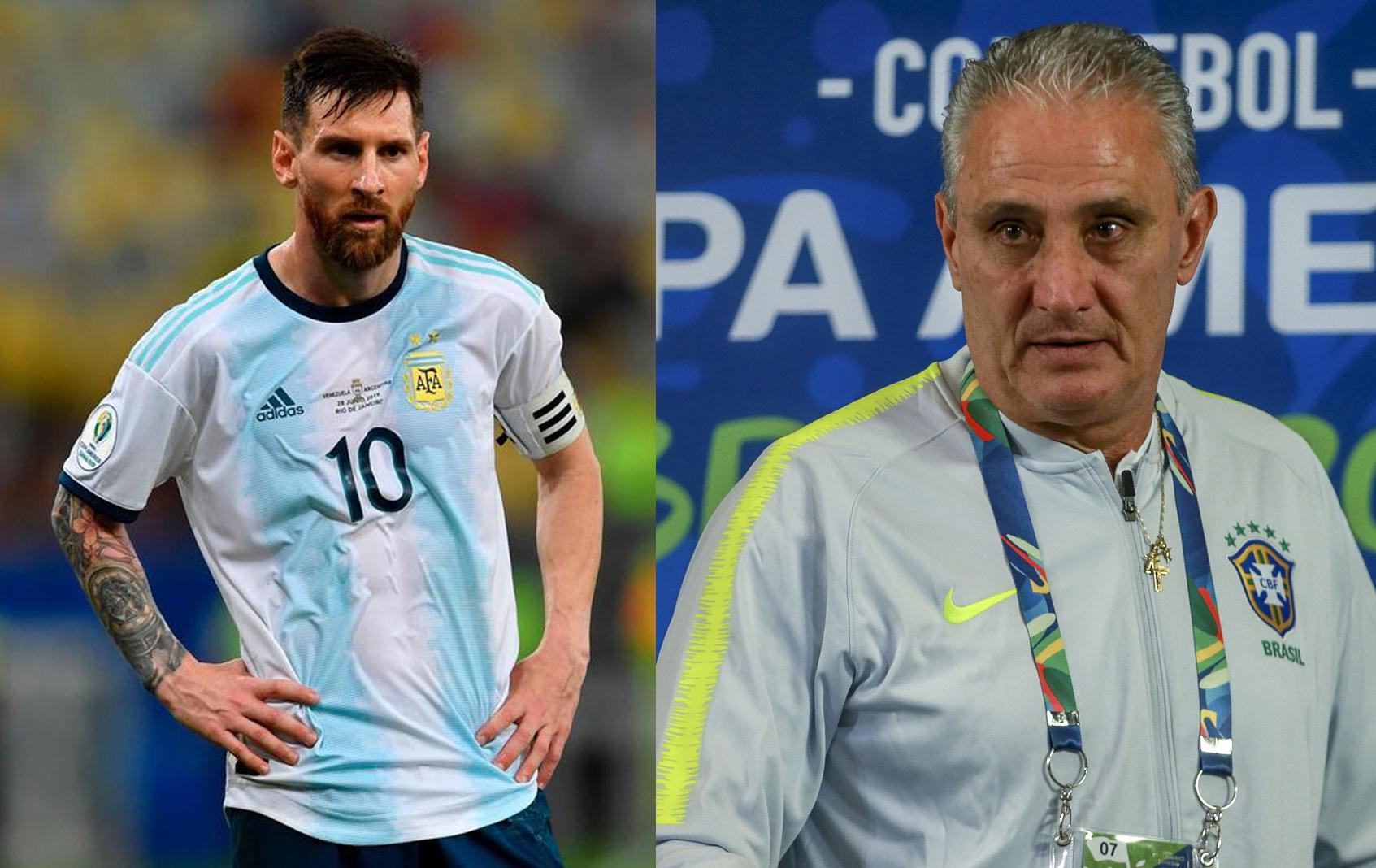 HLV Tite không phục trước ngôi vô địch của tuyển Argentina