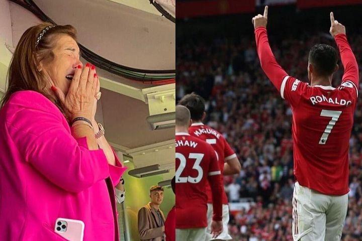 Bà Maria Dolores xúc động khi Ronaldo ghi bàn cho Man United