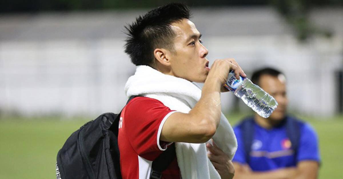 Một số lưu ý khi bổ sung nước cho cầu thủ