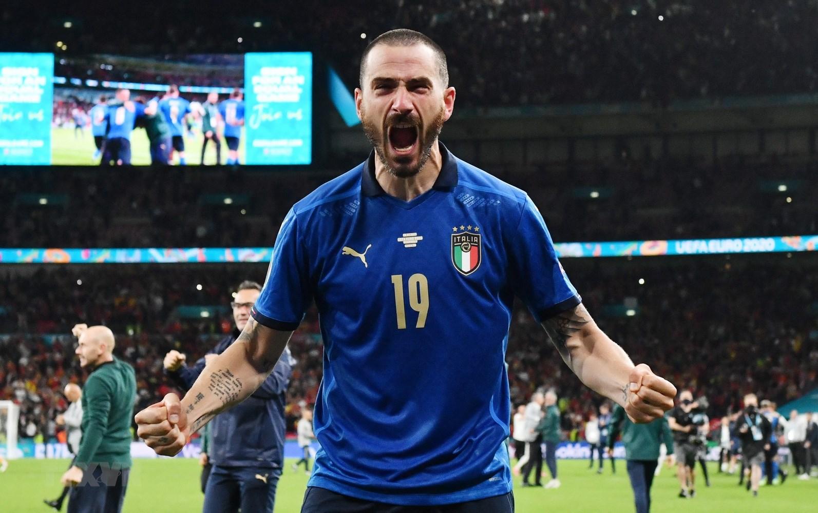 Bonucci đã có bàn thắng gỡ hoà giúp Italia san bằng tỉ số với Anh tại chung kết Euro 2020