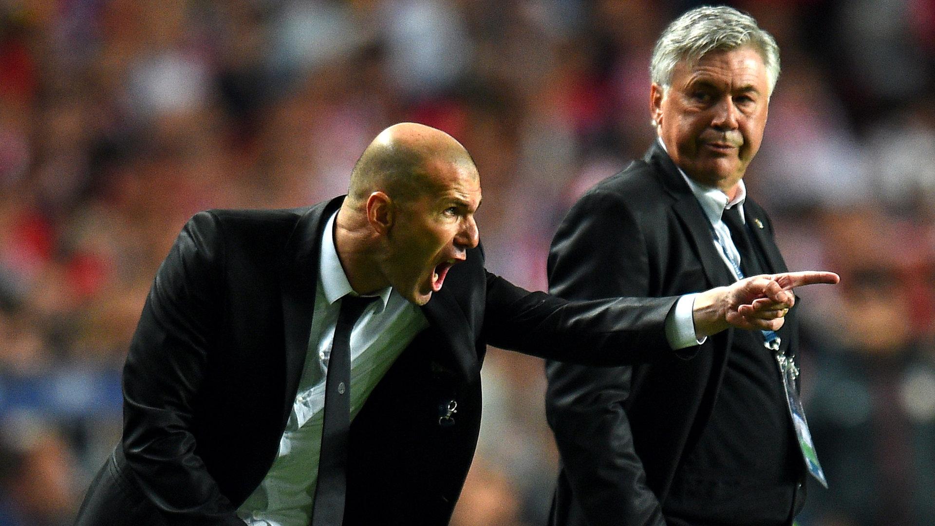 Những điểm khác nhau trong cách cầm quân của Ancelotti và Zidance