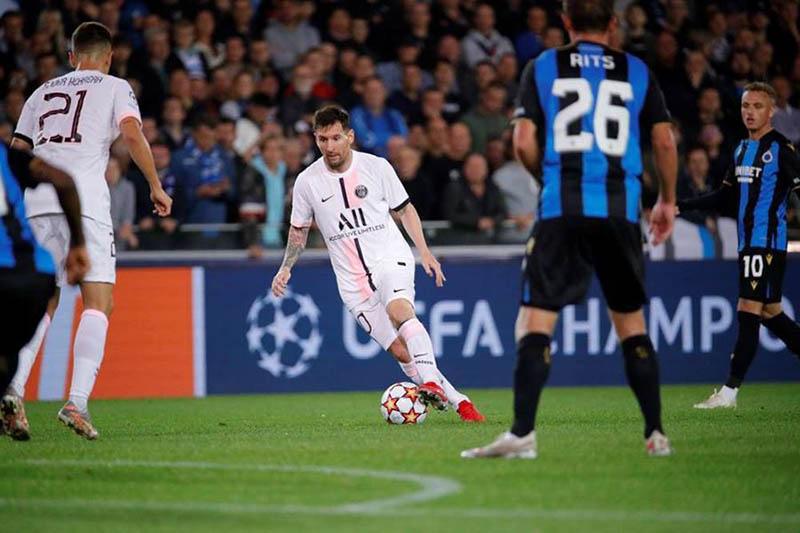 PSG và Club Brugge hòa 1 - 1