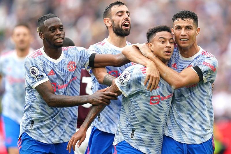 Hình ảnh ăn mừng của các cầu thủ Man United