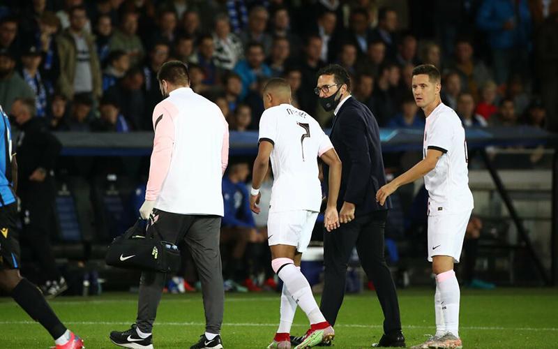 Mbappe vắng mặt vì chấn thương