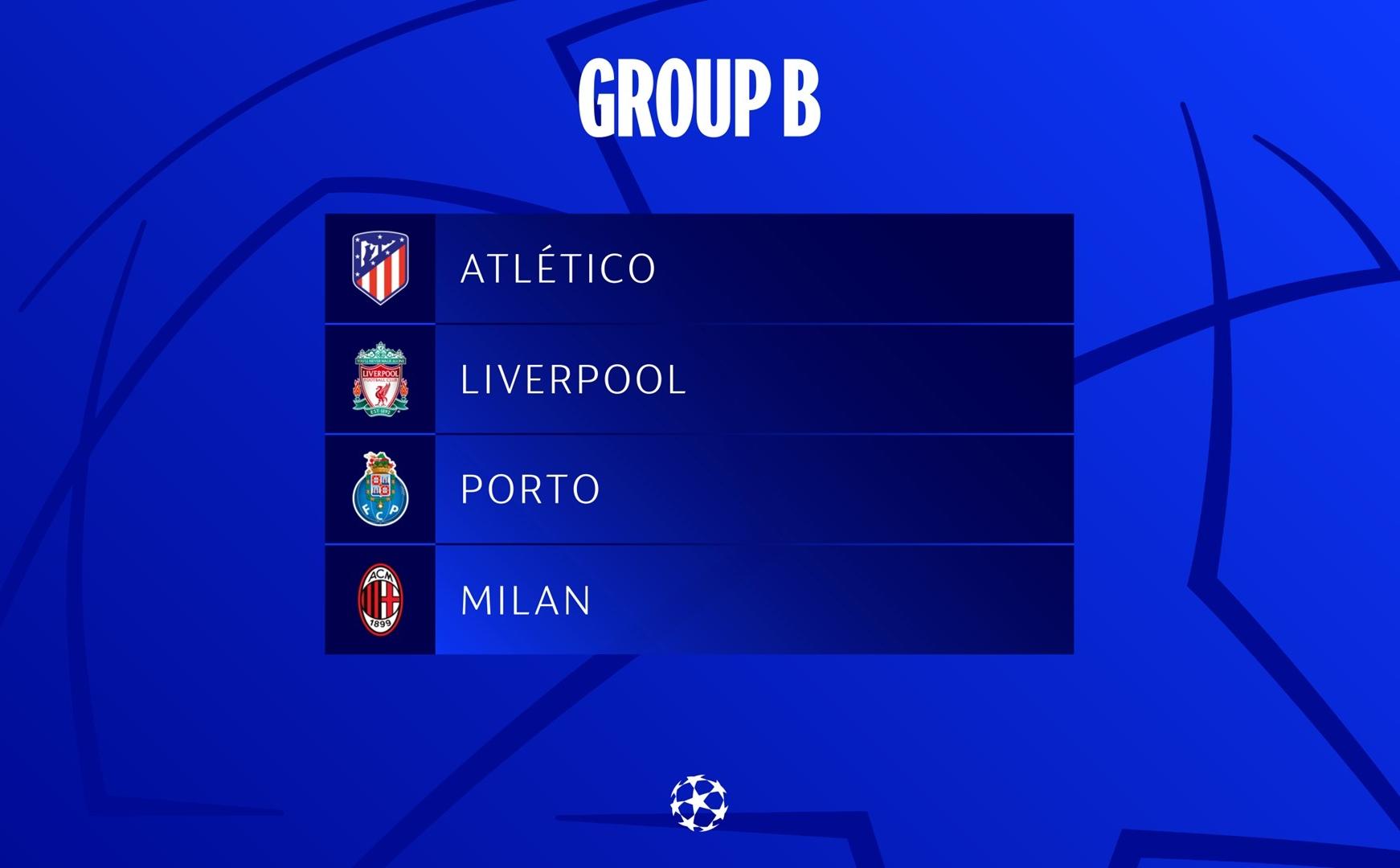 Bảng B được nhận xét là bảng đấu tử thần tại Champions League 2021/22