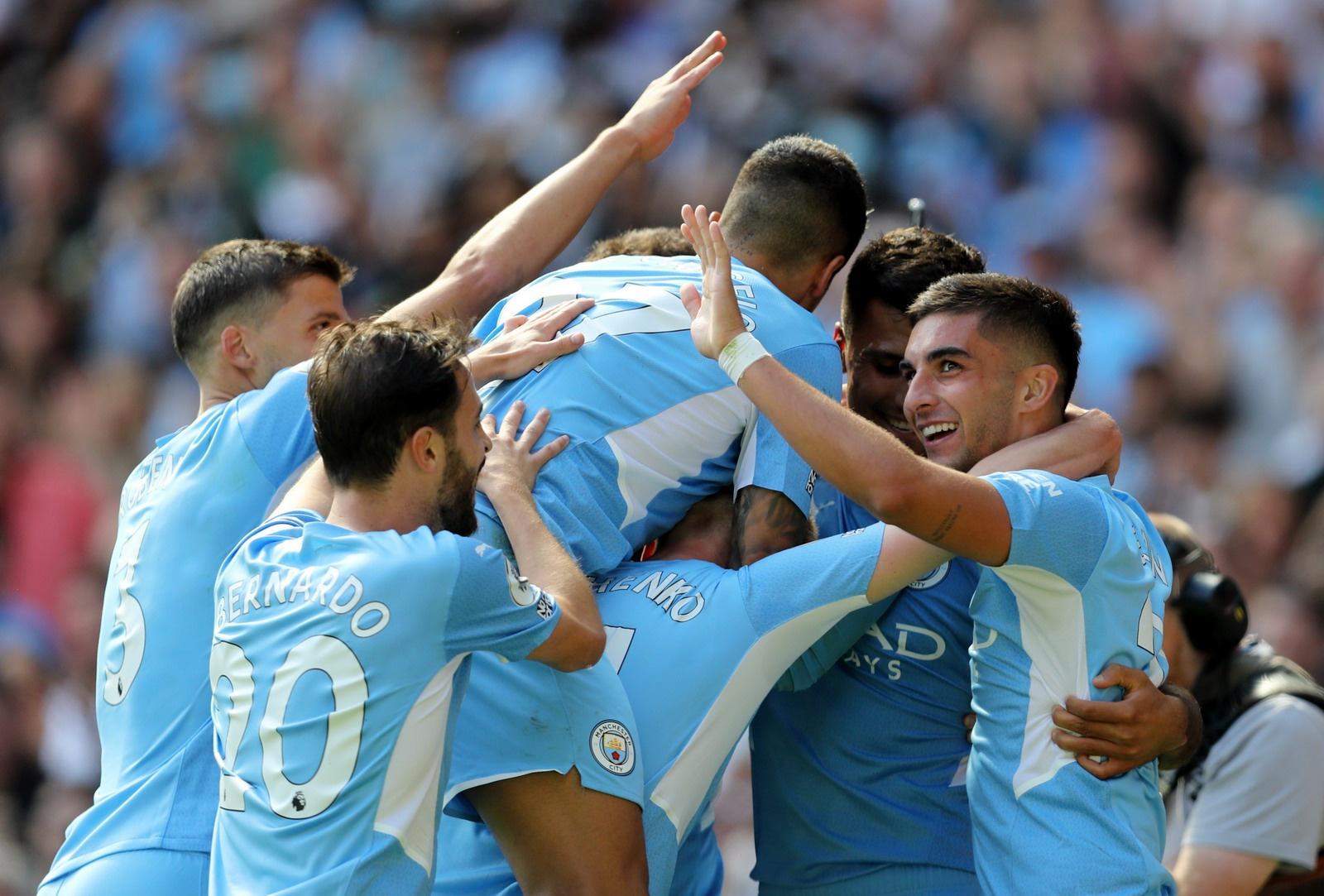 Hiệp 1 trận đấu Man City nhập cuộc đầy tự tin và dành kết quả 3-1 trước Leipzig