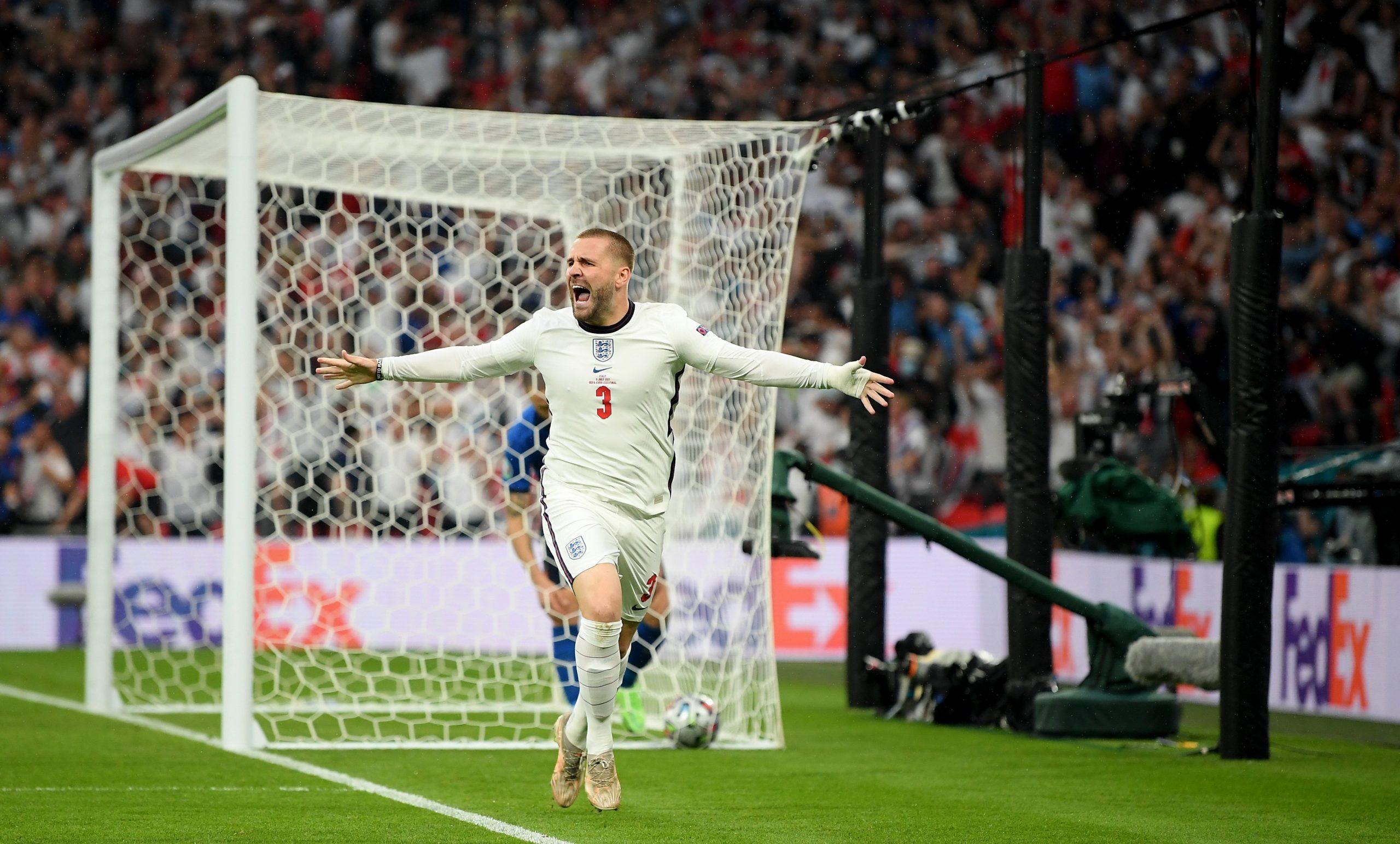 Bàn thắng tạo cách biệt tỉ số là pha ghi bàn đầu tiên của Luke Shaw tại Euro 2020